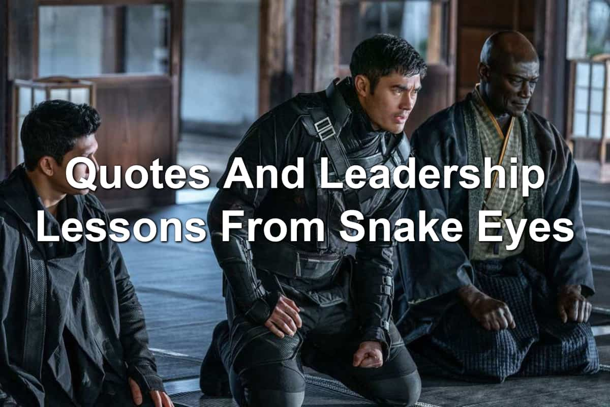 Characters from the movie Snake Eyes
