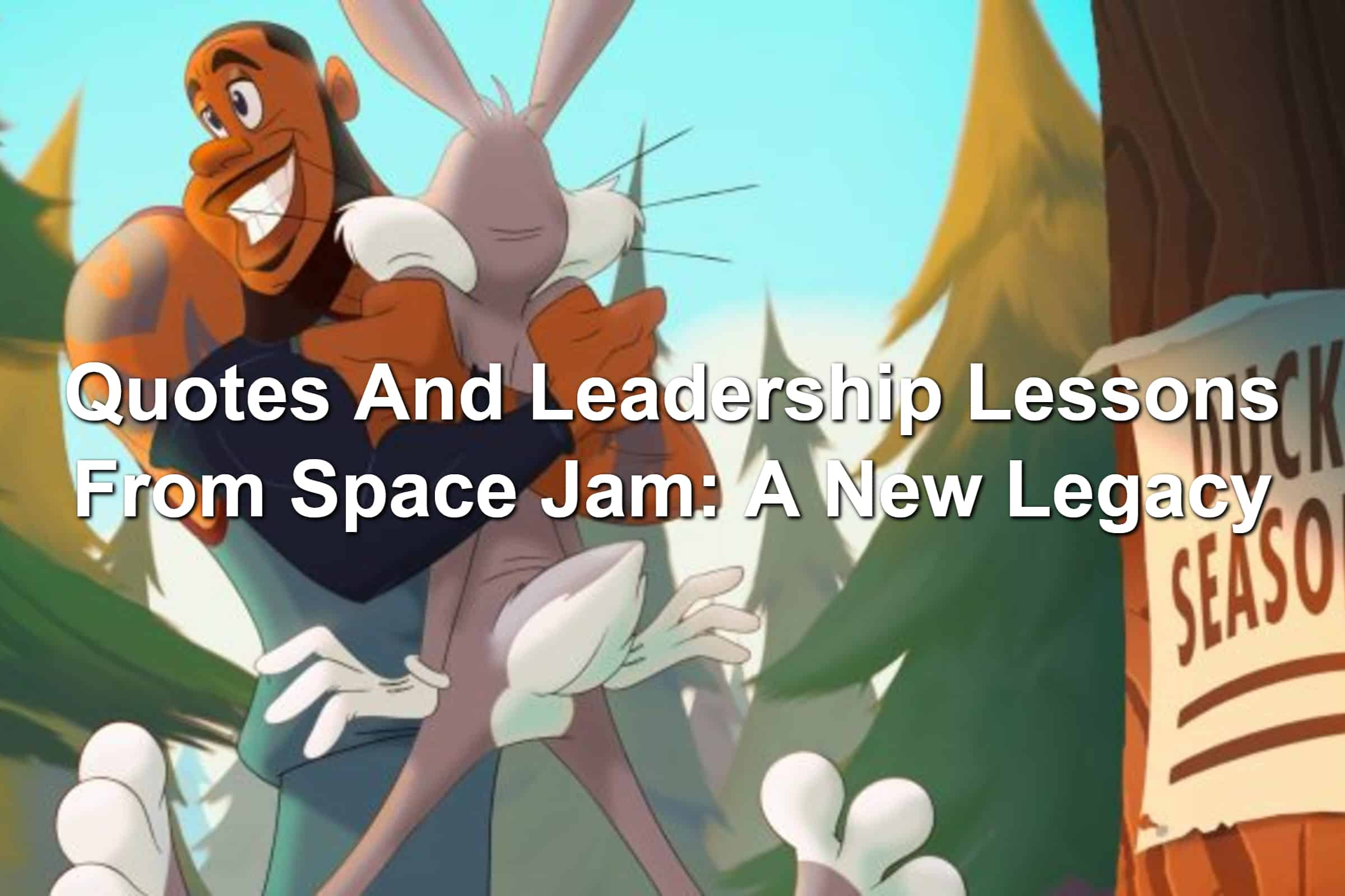 LeBron James hugging Bugs Bunny in Space Jam: A New Legacy