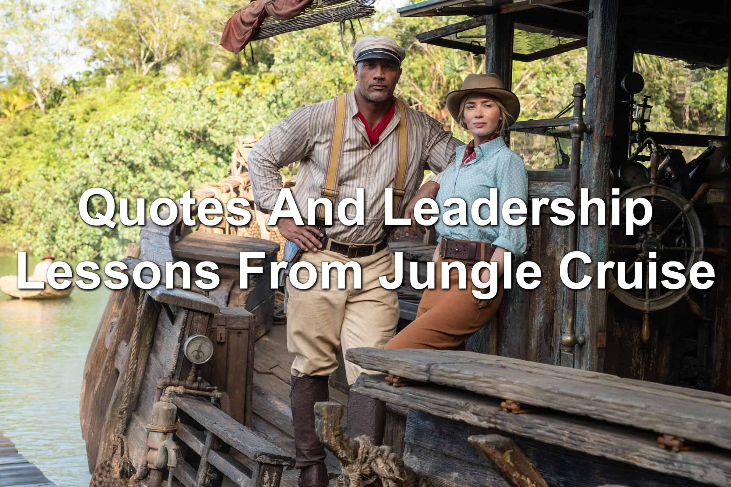 The Rock and Emily Blunt in Jungle Cruise by Disney